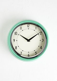 Analog Your Hours Clock. While the world outside is busily digitized, inside your abode its oh-so retro with this vintage-inspired clock upon your wall. #mint #modcloth