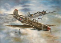 Pictures By Gleb Vasilyev who does WW2 aircraft and tank art. This is one of his paintings which I think inspired War thunder of creating realistic aircraft in their game