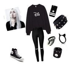 """❤"" by pandahgirl ❤ liked on Polyvore featuring Converse, Givenchy, Valentino and Maison Margiela"