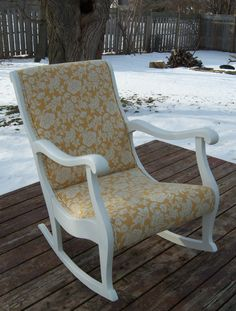 * Painted in white & re-upholsted