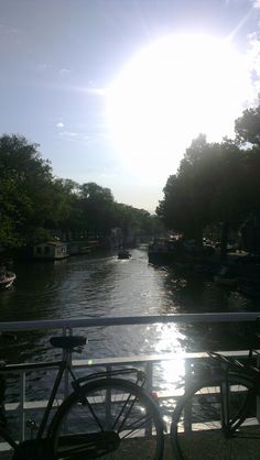 Big sun over the canals