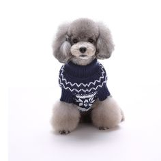 Yunt Pet Small Dog Puppy Snowflake Pattern Sweater Cat Winter Knit Clothes Jumper Apparel ** Special cat product just for you. See it now! : Christmas Presents for Cats