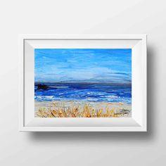 California Art San Francisco Bay Monterey Bay by PaletteKnifeArt