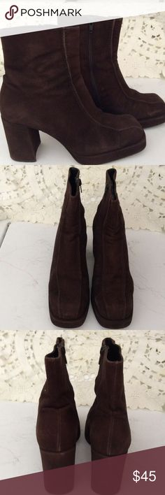 💥Final💥Charles David suede/leather zip up bootie Pre-owned brown suede upper , leather soles, leather lining.  More life left to enjoy these cute comfy booties. Charles David Shoes Ankle Boots & Booties