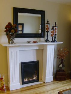Decorated Fireplace Mantels for Year-Round | Make sure to also check out the Christmas apothecary jars I made for ...