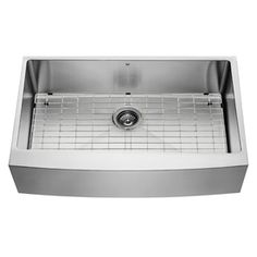 VIGO 36-in x 22.25-in Stainless Steel Single-Basin Stainless Steel Apron Front/Farmhouse Commercial Kitchen Sink