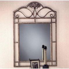 Rectangular Console Mirror w Wrought Iron Frame