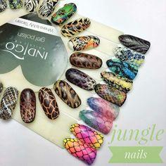 """Instagram의 Beauty Share Acc님: """"Piękny wzornik jungle nails od @indigonails """" Od rana dzikie zdobienia w stylu Indigo Jungle od Ani Leśniewskiej Indigo Educator Ostrołęka…"""" Love Nails, Pretty Nails, Stiletto Nails, Gel Nails, Snake Skin Nails, Dragon Nails, Organic Nails, Indigo Nails, Nailart"""