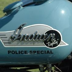 Vintage Indian motorcycle - Police Special                                                                                                                                                     More