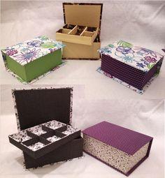 caixas de bijuteria em cartonagem - 2014