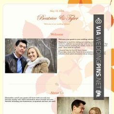 About Us Wedding Website