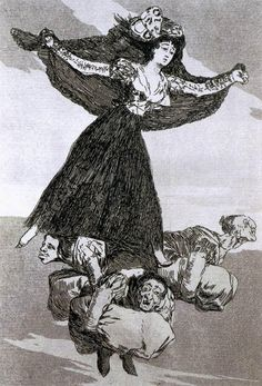 Gone for good. Goya. 1797-1798. Los Caprichos. Etching and aquatint. 217 x 152 mm.