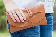 DIY Leather Wrap Clutch | Leather Crafts | Create Your Own Durable DIY Accessories
