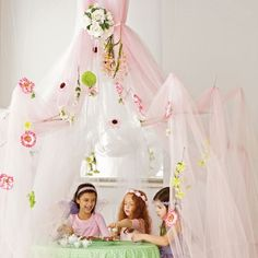 A Very Fairy Party Gallery...you can buy them or just get the tulle and use fishing line...perfect for my little girl's room!