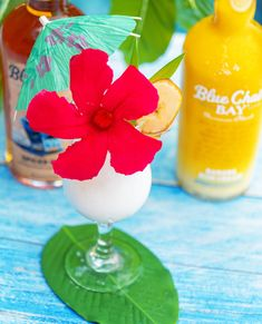 Save water, drink cocktails! 😉⁠ This creamy frozen drink recipe is the perfect cocktail for your day at the beach or by the pool.   Blend to combine. Garnish with a lime wheel and cherries. #bluechairbay #bananarumcream #spicedrum #BCBHappyHour Rum Cocktail Recipes, Cocktail Drinks, Rum Cream, Bay Rum, Spiced Rum, Frozen Drinks, Daiquiri, Save Water, Summer Cocktails