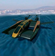 Concept Superyacht is More Super Than Superman Flying Ship, Aqua, Transportation Design, Luxury Cars, Superman, Science Fiction, Aircraft, Military, Concept