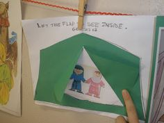 Lift the flap Abraham and Sarah tent. Have the kids draw their own people and decorate/color/paint tent.