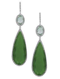 Brinco de ouro, jade e diamantes, Vivara