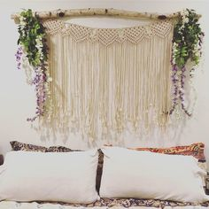 "Amazon.com: Macrame Wall Hanging Boho Wedding Hanger Cotton Handmade Wall Art Home Wall Decor,42""x 35"": Home & Kitchen"