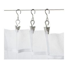 RIKTIG Curtain hook with clip  - IKEA - RIKTIG Curtain hook with clip $2.99 - Article Number: 802.122.01 The clips make it easy to hang curtains on a curtain wire. Read more Size: 24 pack for $3