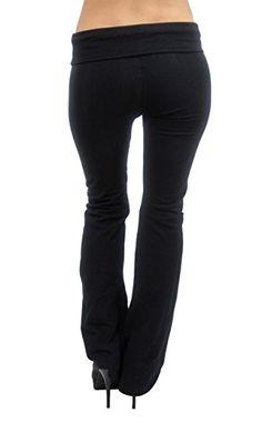 58e03d0e4247c Vivian's Fashions Yoga Pants - Extra Long, Misses Size (Black, 6X) Made