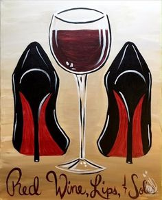 ">>> Say acclaim to these wine confined .[[caption id="""" align=""aligncenter"" Wine Lips Soles - paint and wine houston heights Black Art Painting, Wine Painting, Easy Canvas Painting, Diy Canvas Art, Acrylic Paintings, Black Love Art, Black Girl Art, Art Girl, Cuadros Diy"