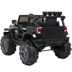 Electric Car Jeep Kids Toys Ride on RC Remote Control Outdoor Fun Black for sale online Truck Games For Kids, Kids Ride On, Kids Jeep, Cardboard Car, Rc Remote, Halloween Disfraces, Kids Room Design, Go Kart, Electric Cars