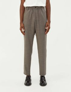 A Kind Of Guise Elasticated Wide Trouser in Warm Grey Need Supply Co, Wide Trousers, Warm Grey, Welt Pocket, Ukraine, Parachute Pants, Sweatpants, Shorts, Model