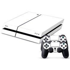 Pure White Vinyl Sticker Wrap For Playstation 4+ 2Pcs Controller Skin Sticker Wrap