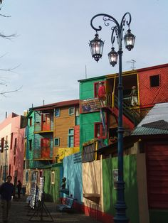 Colorful Houses of La Boca Buenos Aires Argentina Beautiful Streets, Beautiful World, Monuments, Art Nouveau Arquitectura, Site History, City Scene, South America Travel, Space Travel, Future Travel