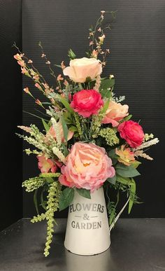 Spring Flower Arrangements, Silk Floral Arrangements, Artificial Flower Arrangements, Vase Arrangements, Beautiful Flower Arrangements, Floral Centerpieces, Floral Bouquets, Beautiful Flowers, Bridal Bouquets