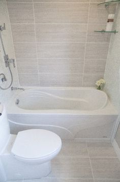 Small Master Bath X Tub Shower Combo With Vanity And Toilet New - 6x8 bathroom tiles