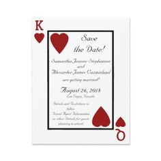 King and Queen wedding invitations