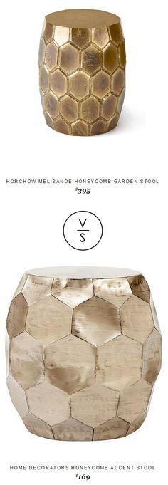 @horchow Melisande Honeycomb Garden Stool $395 Vs Home Decorators Honeycomb Accent Stool $169