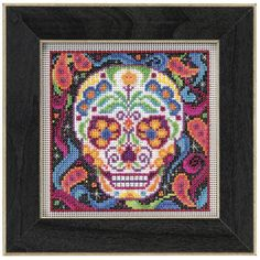 Sugar Skull Counted Cross Stitch Kit - Cross Stitch, Needlepoint, Embroidery Kits – Tools and Supplies