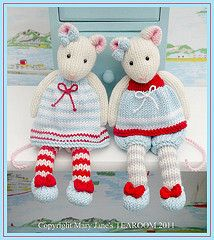 Beautiful mice patterns from Mary Jane's Tearoom