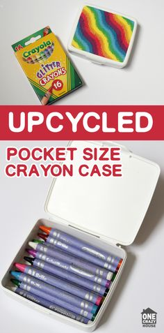Create a mini travel case for your budding artist. Simple DIY project that takes minutes to make.