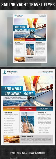 Sailing Yacht Travel Flyer Template