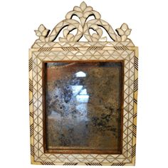 1stdibs | Beautiful 19th Century Syrian Mother Pearl Mirror
