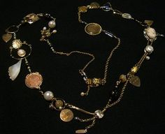 Memory Necklace using heirloom pieces - Beading Daily