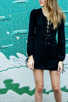 Favorite trend of the year, the laced-up 70s inspired piece | Tie the Knot Dress by #nastygal