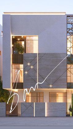 Sarah Sadeq architects House Gate Design, Bungalow House Design, House Front Design, Villa Design, Facade Design, Modern House Design, Exterior Design, Classic House Exterior, Modern Exterior