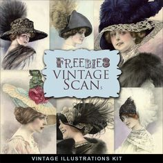 Freebies Vintage Woman Illustrations:Far Far Hill - Free database of digital illustrations and papers