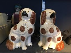 Excited to share this item from my shop: Pair of Victorian wally dogs Staffordshire dogs 9 inch tall