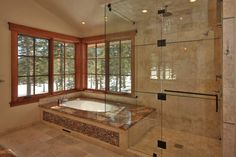 High End Tub Shower Design Ideas, Pictures, Remodel, and Decor