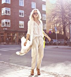 i love just about anything angelica blick wears, especially this all-white, breezy outfit!