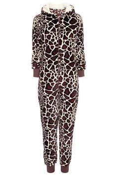 Giraffe Print All-In-One
