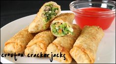 How to Make Egg Rolls - Homemade Egg Roll Recipe Easy Egg Recipes, Wonton Recipes, Asian Recipes, Cooking Recipes, Asian Foods, Pastry Recipes, Amazing Recipes, Copycat Recipes, Yummy Recipes