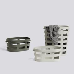 Cool and simple laundry baskets from the Danish design firm Hay