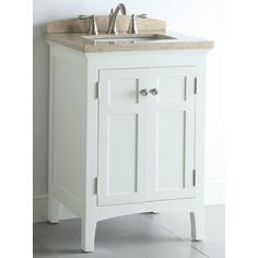 For for downstairs bathroom. Not crazy about the top.    allen + roth 24-in White Windelton Bath Vanity with Top